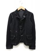 BLACK COMME des GARCONS(ブラックコムデギャルソン)の古着「ステッチワークジャケット」|ブラック
