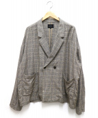 superNova.(スーパーノヴァ)の古着「Glen check Double jacket」|グレー