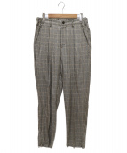 superNova.(スーパーノヴァ)の古着「Glen check Utility trouser」|グレー