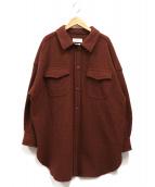 Mila Owen(ミラオーウェン)の古着「ジャージービッグカバーオール」|ブラウン