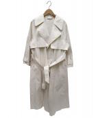 STUNNING LURE(スタンニングルアー)の古着「キナリオーバートレンチコート」|アイボリー