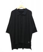 s'yte(サイト)の古着「オーバーサイズビッグポロシャツ」|ブラック