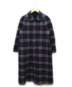 Burberrys(バーバリーズ)の古着「RVノヴァチェックステンカラーコート」|ネイビー
