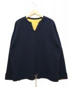 crepuscule(クレプスキュール)の古着「キーネックウールプルオーバー」|ネイビー