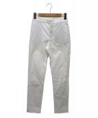45R(フォーティファイブアール)の古着「クールジャガードスリムパンツ」|ホワイト