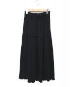 Demi-Luxe BEAMS(デミルクスビームス)の古着「プリーツティアードスカート」|ブラック