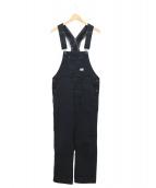 RRL(ダブルアールエル)の古着「ストライプドツイルオーバーオール」|ブラック