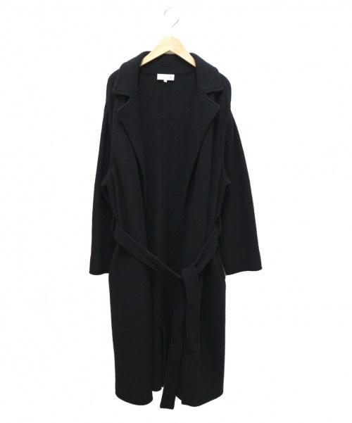 MACKINTOSH(マッキントッシュ)MACKINTOSH (マッキントッシュ) 14ゲージウール丸編みコート ブラック サイズ:38 日本製の古着・服飾アイテム