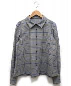 CARA O CRUZ(キャラオクルス)の古着「BONOTTOチェック柄シャツ」|グレー