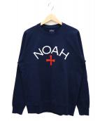 Noah(ノア)の古着「CORE LOGO SWEAT SHIRT」|ネイビー