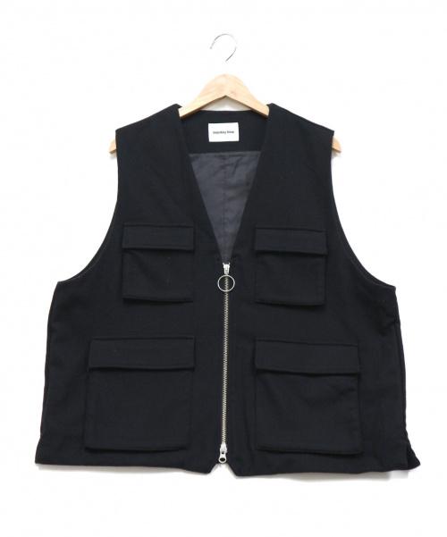 MONKEY TIME(モンキータイム)MONKEY TIME (モンキータイム) MULTI POCKET VEST ブラック サイズ:Mの古着・服飾アイテム