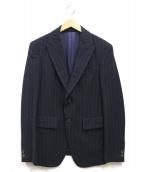 SCYE(サイ)の古着「ピークドラペルストライプウールジャケット」 ネイビー