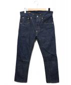 SCYEBASICS(サイベーシックス)の古着「サンホアキンヒップガゼット5ポケットデニム」|インディゴ