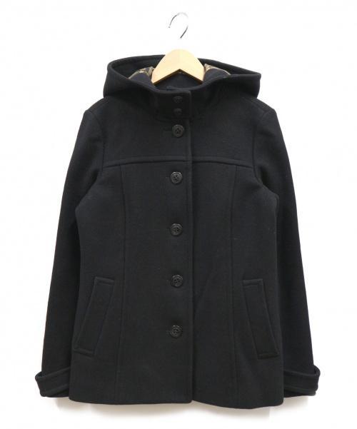 BURBERRY BLUE LABEL(バーバリーブルーレーベル)BURBERRY BLUE LABEL (バーバリーブルーレーベル) フーデッドコート ブラック サイズ:38 バーバリー 日本製の古着・服飾アイテム