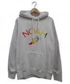 Noah(ノア)の古着「レインボープリントパーカー」 ホワイト