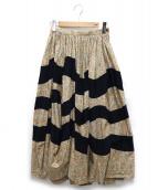 tricot COMME des GARCONS(トリコ コムデギャルソン)の古着「総柄スカート」|ベージュ
