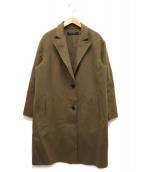 SOFIE DHOORE(ソフィードール)の古着「ウールカシミヤチェスターコート」|ブラウン