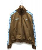 lucien pellat-finet×arena(ルシアンペラフィネ×アリーナ)の古着「トラックジャケット」 ブラウン