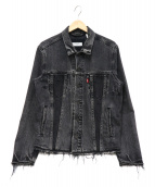 LEVIS(リーバイス)の古着「デニムトラッカージャケット」|ブラック
