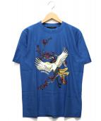 LOUIS VUITTON(ルイヴィトン)の古着「エンボスプリントTシャツ」 ブルー