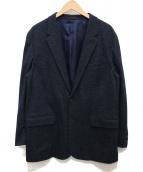 LANVIN en Bleu(ランバンオンブルー)の古着「ウールコットンカジュアルジャケット」 ネイビー
