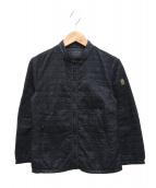 ()の古着「ノーカラーナイロンジャケット」|ブラック
