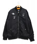 stussy(ステューシー)の古着「MA-1ジャケット」 ブラック
