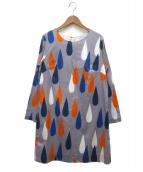 marimekko(マリメッコ)の古着「総柄ワンピース」|グレー