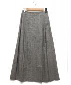 mizuiro-ind(ミズイロインド)の古着「リネン混ラップスカート」|グレー
