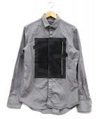 EMPORIO ARMANI(エンポリオアルマーニ)の古着「デザインウールシャツ」|グレー