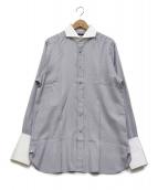 ()の古着「クレリックシャツ」|グレー
