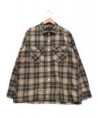 BEAMS PLUS(ビームスプラス)の古着「ジャズネップチェックシャツ」|ブラウン