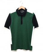 RAF SIMONS×Fred Perry()の古着「TAPE DETAIL PIQUE SHIRT」|グリーン×ブラック