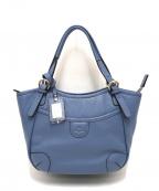 PELLE BORSA(ペレボルサ)の古着「シュリンクレザーミニトートバッグ」 ブルー