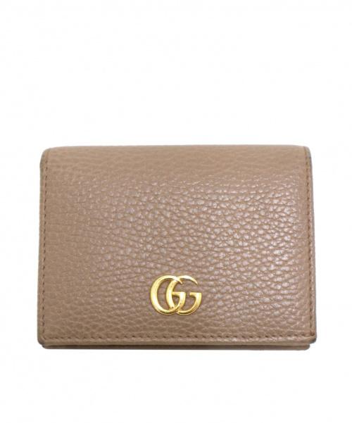 GUCCI(グッチ)GUCCI (グッチ) 2つ折り財布 ベージュ プチマーモント 456126 0416の古着・服飾アイテム