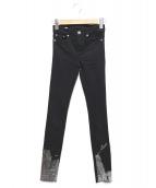 MM6(エムエムシックス)の古着「スキニーデニムパンツ」 ブラック