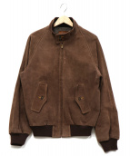 Golden Bear(ゴールデンベア)の古着「スウェードレザーハリントンジャケット」|ブラウン