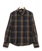 Vivienne Westwood man(ヴィヴィアンウエストウッドマン)の古着「アシンメトリーオーブチェックシャツ」|ブラック