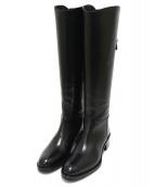 SARTORE(サルトル)の古着「バックストラップジョッキーブーツ」 ブラック