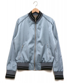 Martin Margiela 10(マルタンマルジェラ10)の古着「Satin Bomber Jacket」|ブルー