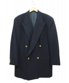 GIORGIO ARMANI(ジョルジオアルマーニ)の古着「ウールカシミヤ金釦ダブルジャケット」|ネイビー