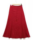 Noble(ノーブル)の古着「フリンジマキシスカート」|ピンク