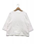 YAECA(ヤエカ)の古着「ボートネックスモックカットソー」|ホワイト