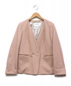 La TOTALITE(ラトータリテ)の古着「フィラメントカルゼVネックジャケット」|ピンク