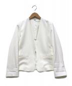 ROPE(ロペ)の古着「ノーカラージャケット」|ホワイト