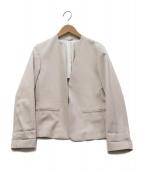 ROPE(ロペ)の古着「ノーカラージャケット」|ベージュ