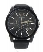 ARMANI EXCHANGE(アルマーニエクスチェンジ)の古着「腕時計」 ブラック