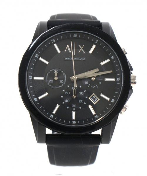 ARMANI EXCHANGE(アルマーニエクスチェンジ)ARMANI EXCHANGE (アルマーニエクスチェンジ) 腕時計 ブラック AX1325 クォーツ ラバーの古着・服飾アイテム