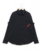 PHINGERIN(フィンガリン)の古着「ナイロンシャツ」|ブラック