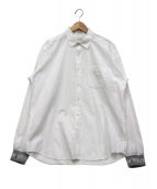 MR.GENTLEMAN(ミスタージェントルマン)の古着「袖ニット切替シャツ」 ホワイト